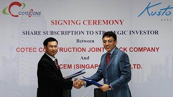Lễ ký kết hợp tác giữa Coteccons và Kusto năm 2012 (Ảnh: CTD)