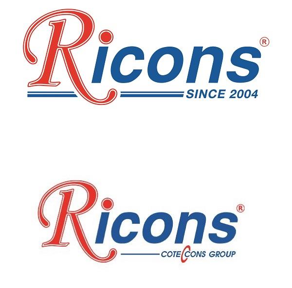 """Logo Ricons mới đã bỏ đi cụm từ """"Coteccons Group"""" (Ảnh: Ricons)"""