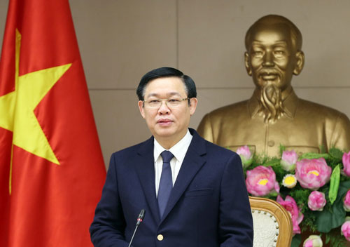 Ông Vương Đình Huệ - Bí thư Thành ủy Hà Nội (Ảnh: VGP)