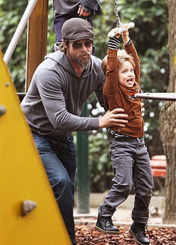 Khoảnh khắc đẹp của Brad Pitt cùng cô con gái ruột đầu lòng hot trở lại 5