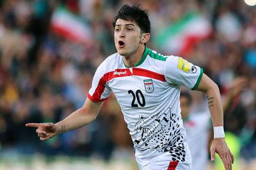3. Sardar Azmoun (Iran - Giá trị chuyển nhượng khoảng 14,5 triệu euro).