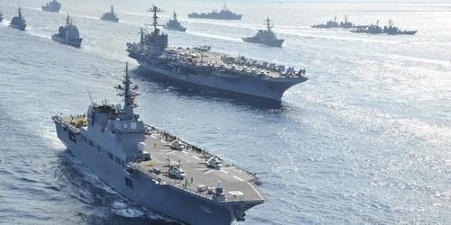 Sức mạnh của Hải quân Nhật Bản là cực kỳ đáng nể, đặc biệt khi Tokyo còn có sự hỗ trợ của Mỹ. Ảnh: Wikipedia.