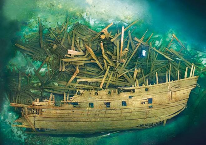 Xác tàu chiến Mars bị mất tích gần 500 năm tại biển Baltic - Ảnh: Ocean Discovery