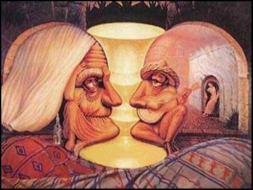 Bạn nhìn thấy gì trong bức tranh đầu tiên?