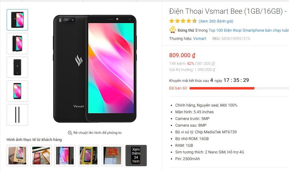 Giá bán trên Tiki chỉ có 809.000 đồng.