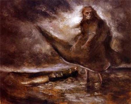 Bức tranh Bóng ma trên nước hoàn thành năm 1905.