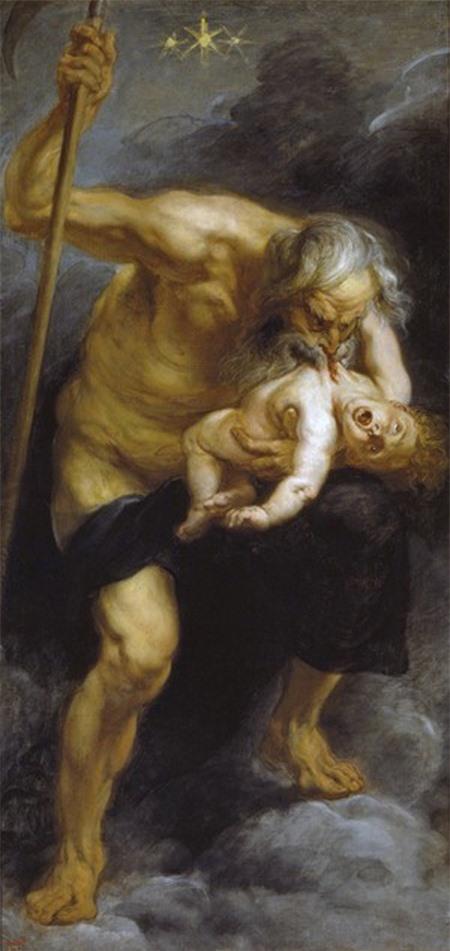 Bức tranh Sarturn ăn thịt con trai hoàn thành năm 1636