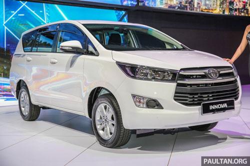 4. Toyota Innova (doanh số: 186 chiếc).