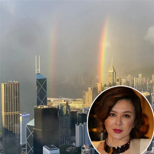 Quan Chi Lâm khoe view đẹp từ căn hộ của cô.