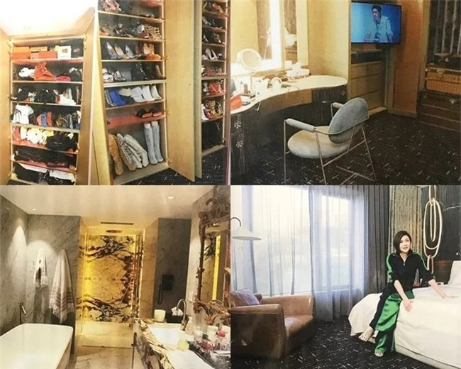 Nội thất trong căn hộ của nữ diễn viên Quan Chi Lâm.
