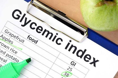 Thực đơn chỉ số glycemic (GI) thấp. Chế độ ăn uống GI thấp sẽ làm giảm chỉ số androgen (hormone sinh dục nam - một trong các nguyên nhân hàng đầu gây mụn). Các loại thực phẩm có chỉ số GI thấp như: yến mạch, gạo nâu, khoai lang, quả hạch, nho khô, đậu phộng, cà rốt, đậu lăng, cà tím, nấm, súp lơ, cà chua, quả kiwi…