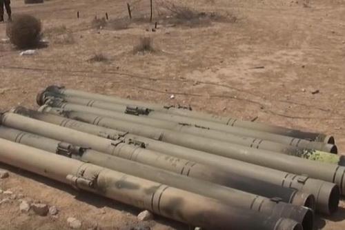 Các ống phóng tên lửa 57E6 thuộc tổ hợp phòng không Pantsir-S1. Ảnh: Al Masdar News.