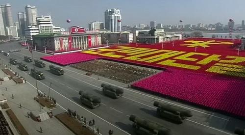Một cuộc duyệt binh của Quân đội nhân dân Triều Tiên. Ảnh: TASS.