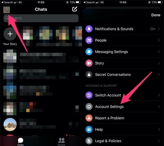 Cách đăng xuất tài khoản Messenger trên iPhone và Android