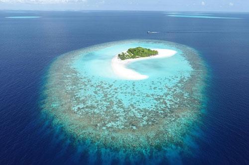 Quần đảo Maldives nằm trong số những hòn đảo có thể bị ảnh hưởng bởi sự gia tăng toàn cầu của mực nước biển. Ảnh: Đại học Plymouth.
