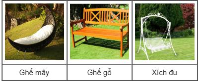 Bạn chuyển đến một căn nhà mới và được bạn bè tặng cho chiếc ghế để ngồi thư giãn. Bạn thích nhất kiểu nào?