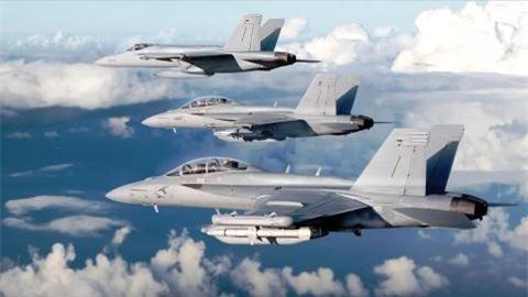 F/A-18E/F manh gap doi F-35B khi mang vu khi moi