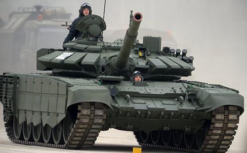 Xe tăng chiến đấu chủ lực T-72B3 của Nga. Ảnh: TASS.