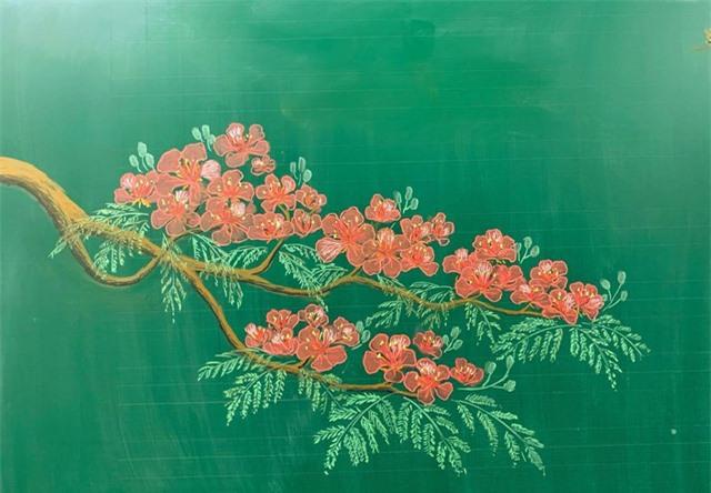 Thầy giáo 9X vẽ hoa phượng trên bảng phấn gây sốt cộng đồng mạng - Ảnh 10.