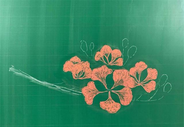 Thầy giáo 9X vẽ hoa phượng trên bảng phấn gây sốt cộng đồng mạng - Ảnh 4.