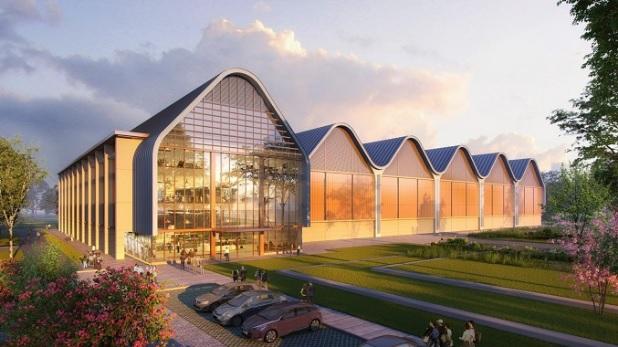 Thiết kế của Trung tâm R&D và sản xuất quang điện tử Huawei tại Cambridge, Anh.