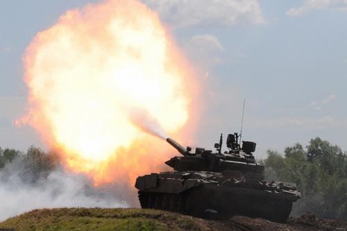 Xe tăng chiến đấu chủ lực T-90 của Quân đội Nga. Ảnh: TASS.