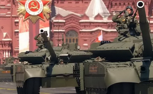 Xe tăng chiến đấu chủ lực T-80BVM của Quân đội Nga. Ảnh: TASS.