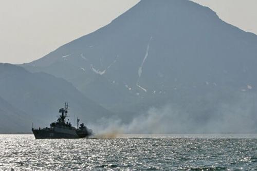 Hải quân Nga vừa tiến hành cuộc tập trận với mục đích răn đe Nhật Bản. Ảnh: TASS.