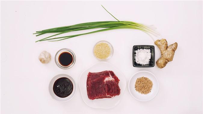Nguyên liệu làm thịt bò xào Mông Cổ hấp dẫn