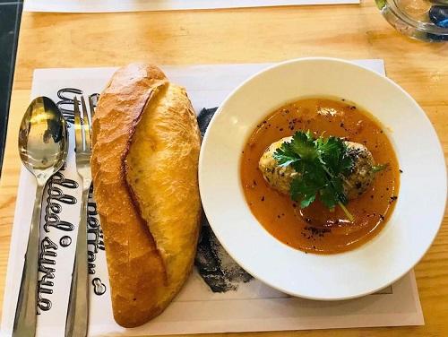 Xíu mại sốt cam – Spaghetti & Toast