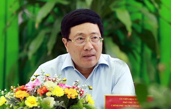 Phó Thủ tướng Phạm Bình Minh phát biểu tại cuộc họp