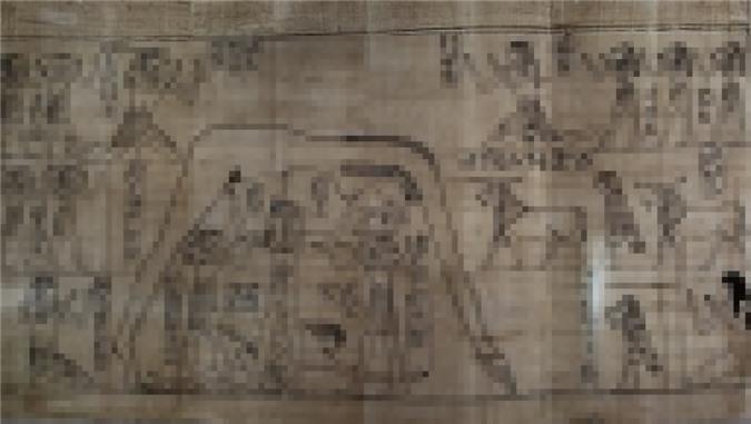 Một tranh vẽ trên cuộn cói papyrus dài 37 m - cuốn tử thư của Nestanebetisheru.