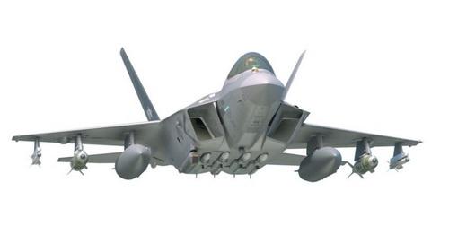 Đồ họa tiêm kích tàng hình tương lai KF-X của Không quân Hàn Quốc. Ảnh: Janes 360.