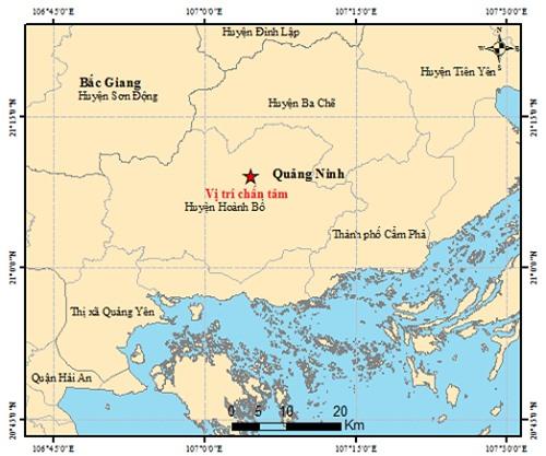Quảng Ninh xuất hiện động đất 2,6 độ Richter - Ảnh 1.