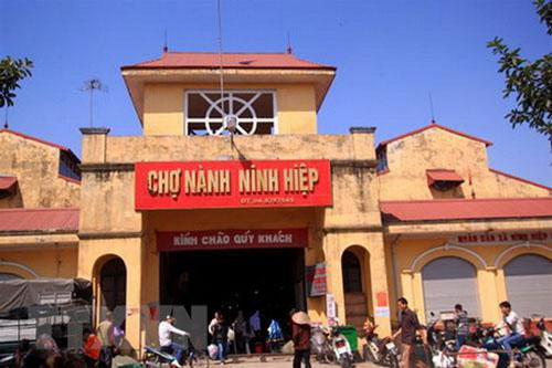 Chợ Ninh Hiệp. (Nguồn: TTXVN)
