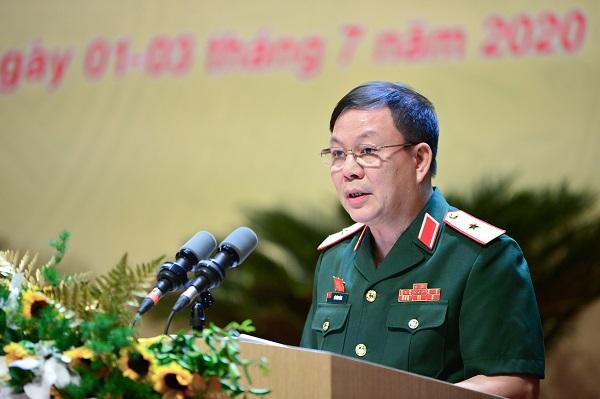 Quyền Chủ tịch kiêm Tổng giám đốc Viettel Lê Đăng Dũng phát biểu tại Đại hội Đảng bộ của Tập đoàn.