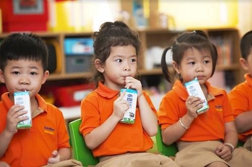 Chương trình Sữa học đường đã góp phần chăm sóc sức khỏe cho học sinh.
