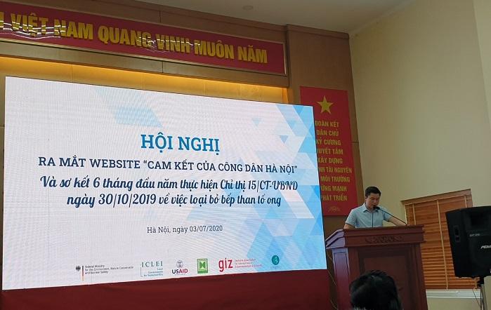 Ông Lê Tuấn Định – Phó giám đốc Sở Tài nguyên và Môi trường Hà Nội đã phát biểu khai mạc Hội nghị