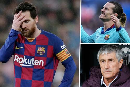 """Griezmann đang bị """"ghẻ lạnh"""" ở Barca."""
