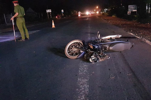 Hiện trường vụ tai nạn (Ảnh: TTXVN)
