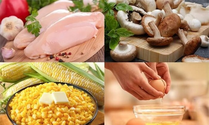 Nguyên liệu làm món súp gà nấm hương