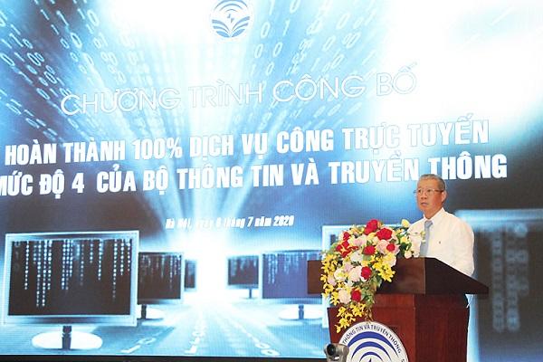 Bộ TT&TT hoàn thành đưa 100% dịch vụ công trực tuyến mức độ 4