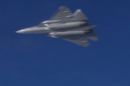 Su-57 của Nga đã thử nghiệm khả năng bắt radar với tiêm kích tàng hình F-35 của Mỹ? Ảnh: RIA Novosti.