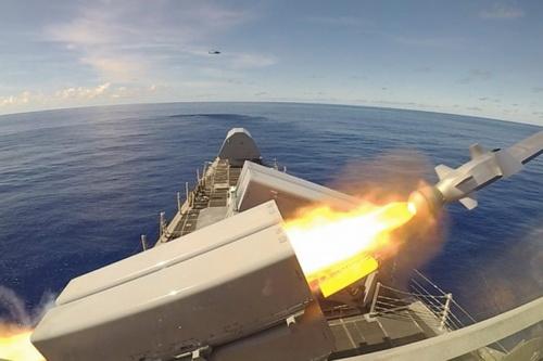 Phóng thử nghiệm tên lửa Naval Strike từ tàu chiến ven bờ LCS. Ảnh: Hải quân Mỹ.