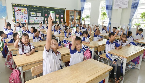 Sữa học đường TP. Hồ Chí Minh: Chương trình nhân văn mang lại nhiều niềm vui cho con trẻ