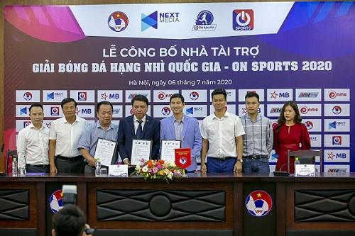 On Sports tài trợ cho giải Hạng nhì quốc gia 2020