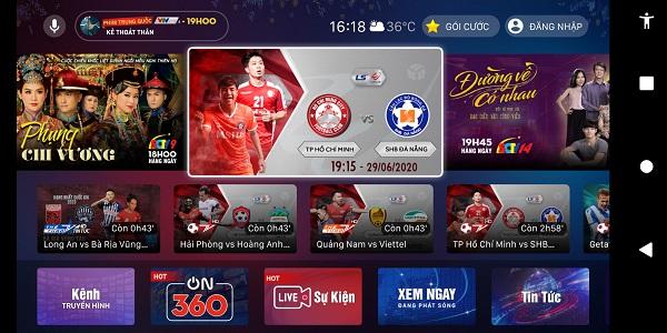 VTVcab ON có thế mạnh về nội dung thể thao và giải trí do VTVcab sở hữu bản quyền.