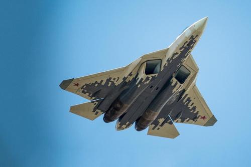 Tiêm kích tàng hình Su-57 của Nga. Ảnh: TASS.