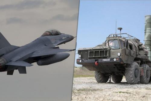 Tiêm kích F-16 không thể qua mặt radar của S-400. Ảnh: TASS.
