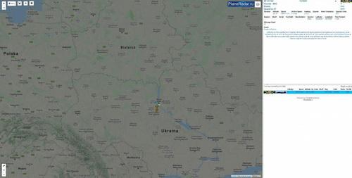 Đường bay của chiếc phi cơ bị nghi là Su-57 trên đất Ukraine. Ảnh: Avia-pro.